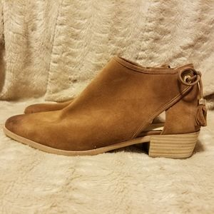 Michael by Michael Kors Brown Suede Ankle Booties